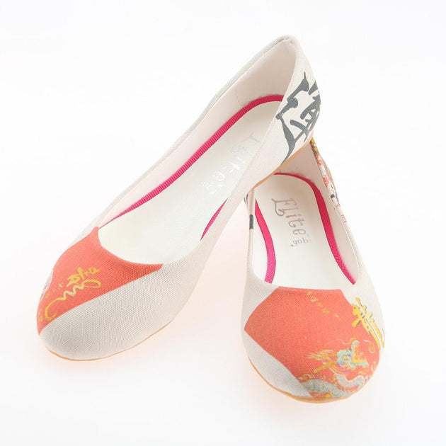 Chinese Dragon Ballerinas Shoes 1103