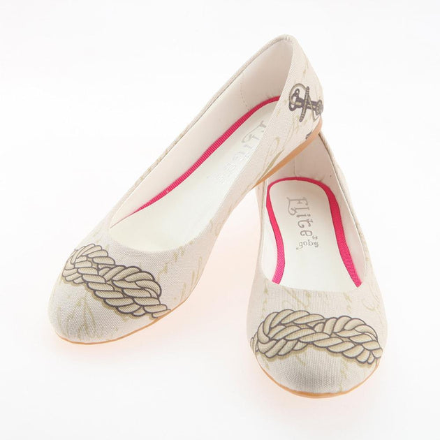 Sailor Rope Ballerinas Shoes 1106