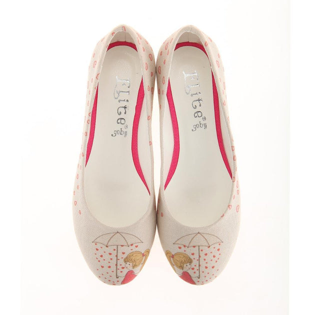 Heart Raining Ballerinas Shoes 1107