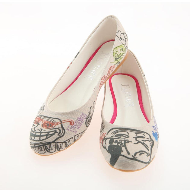 Troll Face Ballerinas Shoes 1120