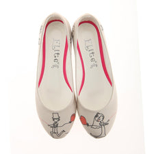 Outleet Cute Couple Ballerinas Shoes 1126 - Only UK- No Exchange or No Return