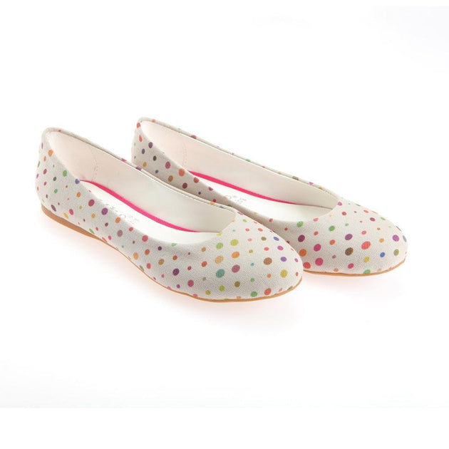 Spotted Ballerinas Shoes 1138
