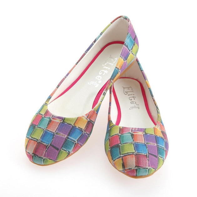 Colored Stones Ballerinas Shoes 1139