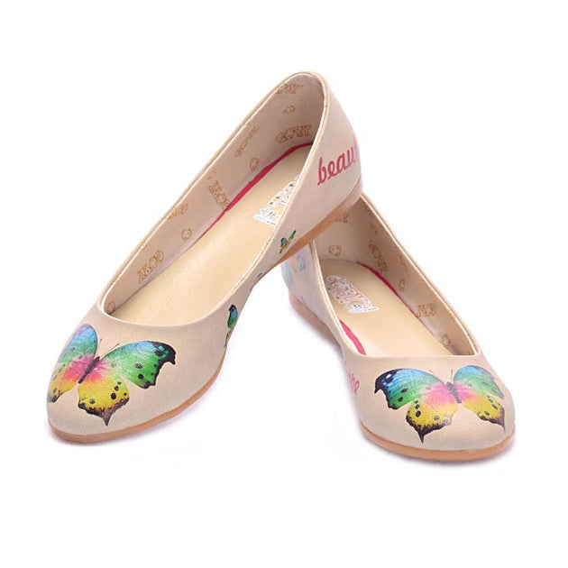 Colorful Butterfly Ballerinas Shoes 2012
