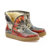 Colorful City Nights Short Furry Boots ACAP100 - Goby ALASKA Short Furry Boots