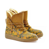 Camouflage Short Furry Boots AGAN103, Goby, ALASKA Short Furry Boots