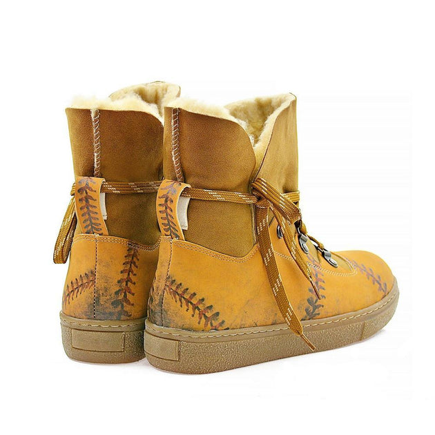 Hand Stitching Short Furry Boots AGAN108