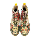Rose Autumn and Skull Long Boots AMAR102