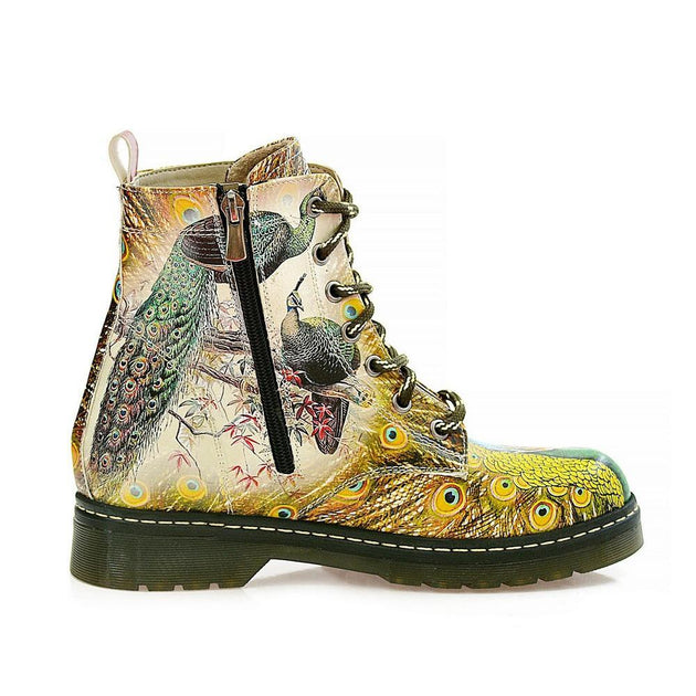 Peacock Bird Long Boots AMAR116