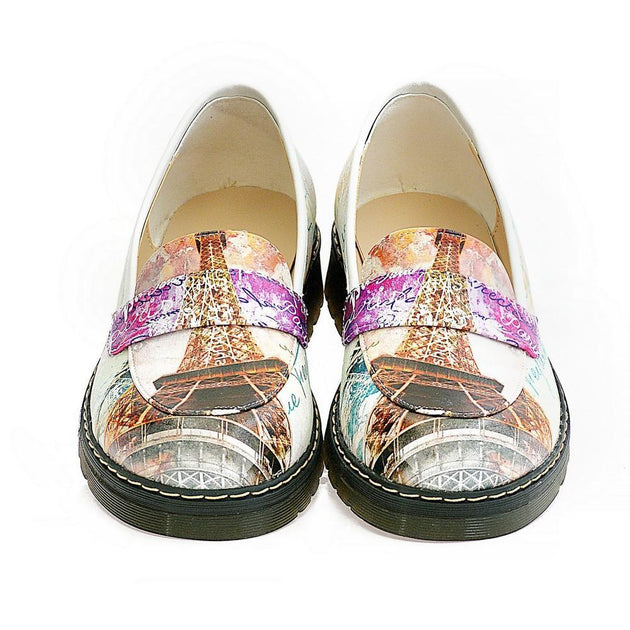 Paris and Eifel Towers Slip on Sneakers Shoes AMOX103