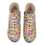 Colored Shapes Ankle Boots BT308