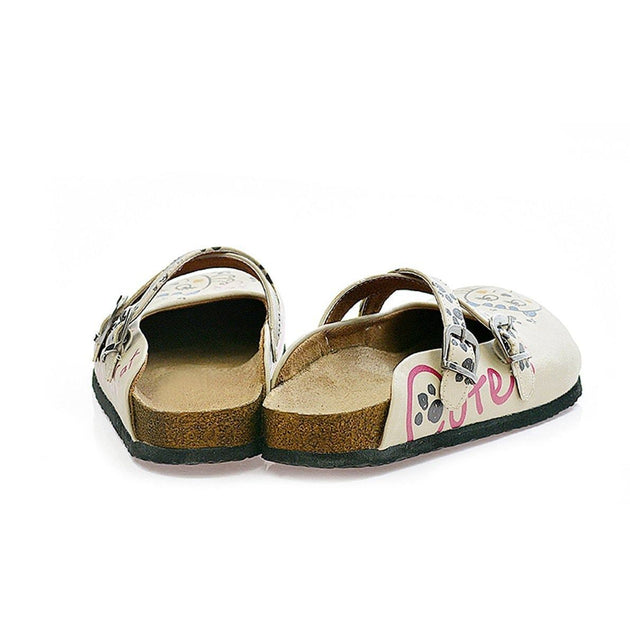 CALCEO Blue, Pink, Black, Pussy and Hearted Charming Cat Patterned Clogs - CAL109 Women Clogs Shoes - Goby Shoes UK