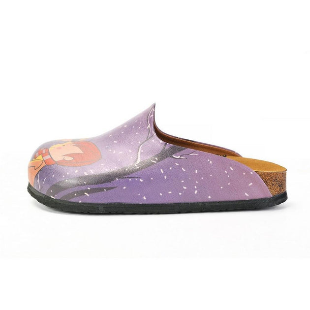 CALCEO Men and Women Love, Snow Drops and Love is in the Air Written Patterned Clogs - CAL1404 Clogs Shoes - Goby Shoes UK