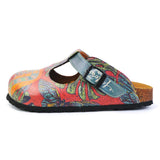 Calceo CAL1505 Peace and Love Clogs Women Clogs Shoes - Goby Shoes UK