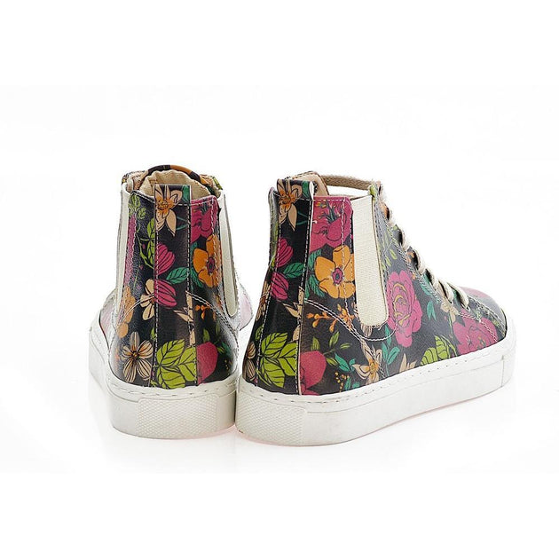 GOBY Flowers Short Boots CON101 Women Short Boots Shoes - Goby Shoes UK