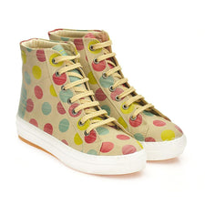 GOBY Colored Dots Sneaker Boots CW2014 Women Sneaker Boots Shoes - Goby Shoes UK
