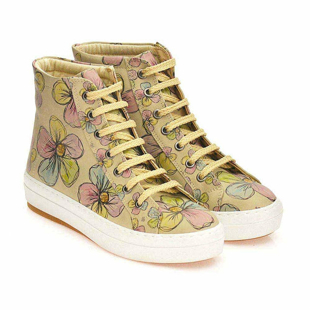GOBY Flowers Sneaker Boots CW2017 Women Sneaker Boots Shoes - Goby Shoes UK