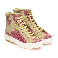 Purple Flowers Sneaker Boots CW2020
