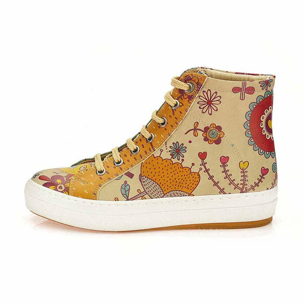 GOBY Flowers Sneaker Boots CW2024 Women Sneaker Boots Shoes - Goby Shoes UK