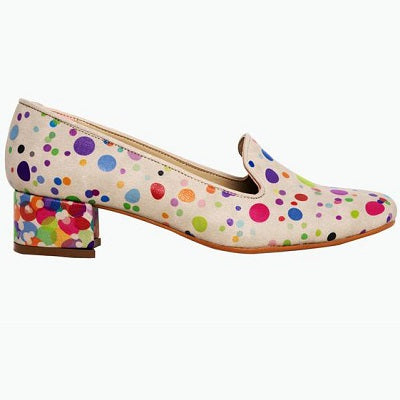 Goby DB113 Colored Dots Women Mary Jane Shoes - Goby Shoes UK