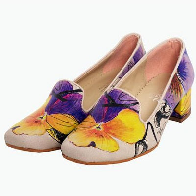 Goby DB114 Flowers Women Mary Jane Shoes - Goby Shoes UK