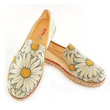 DEL101 Daisy Slip on Sneakers Shoes