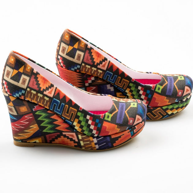 Goby DLG4504 Colored Shapes Women High Heel Shoes - Goby Shoes UK