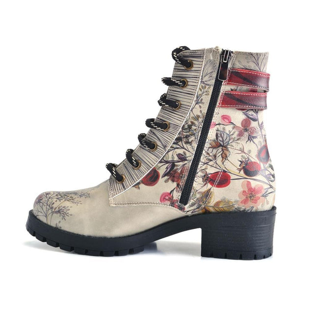 GOBY Autumn and Butterflies Short Boots DRY101 Women Short Boots Shoes - Goby Shoes UK