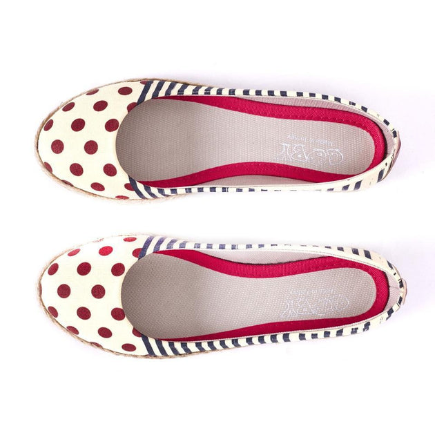 Striped Dotted Ballerinas Shoes FBR1184
