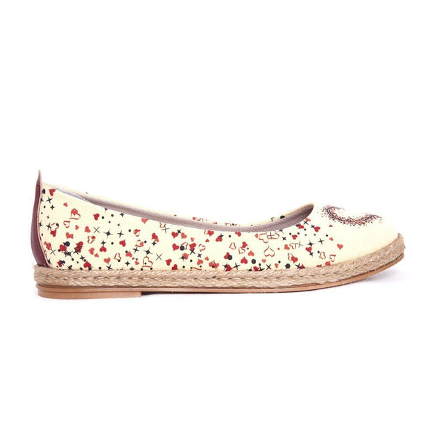 GOBY Heart Ballerinas Shoes FBR1186 Women Ballerinas Shoes - Goby Shoes UK