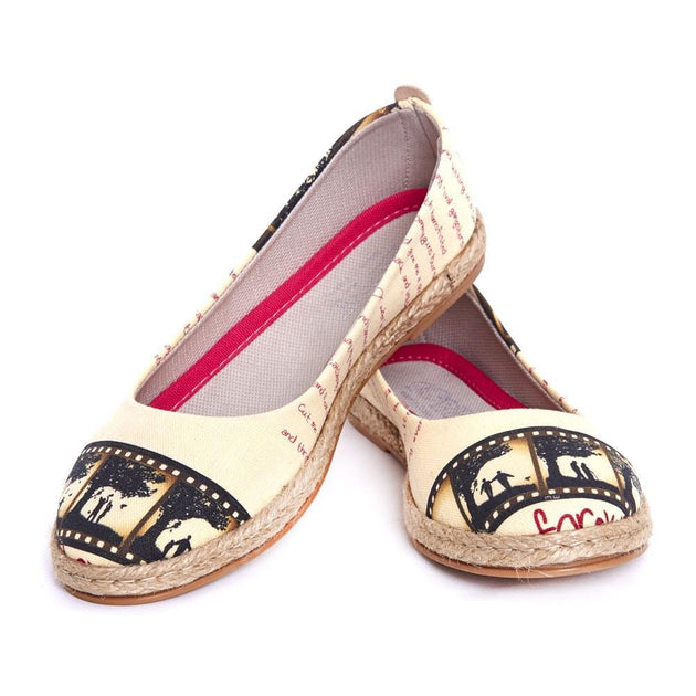GOBY Film Strip Ballerinas Shoes FBR1201 Women Ballerinas Shoes - Goby Shoes UK