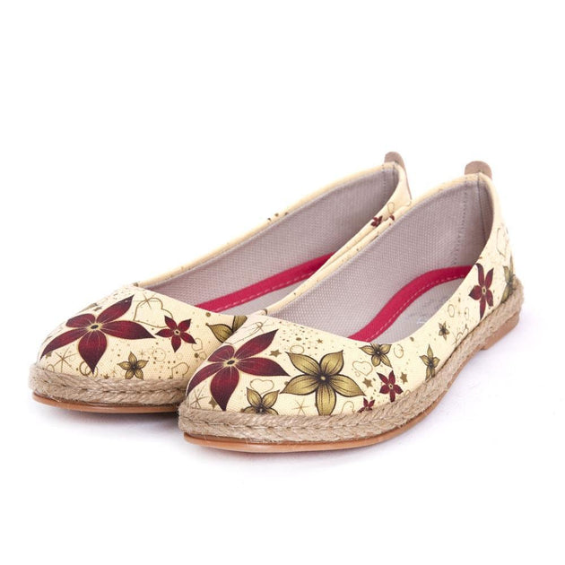 GOBY Flowers Ballerinas Shoes FBR1203 Women Ballerinas Shoes - Goby Shoes UK