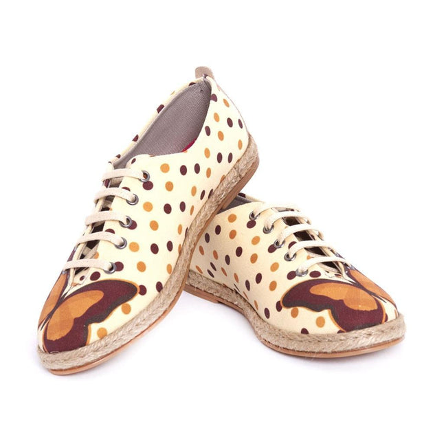 GOBY Butterfly and Dots Ballerinas Shoes FBR1217 Women Ballerinas Shoes - Goby Shoes UK