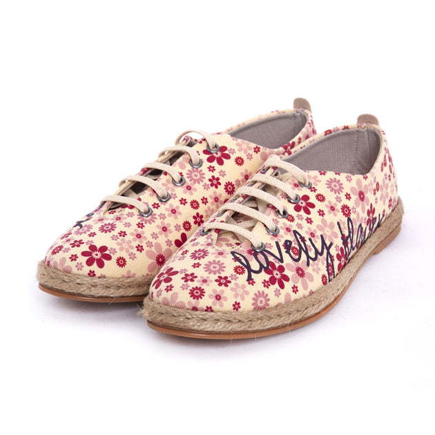 Goby FBR1226 Flowers Women Ballerinas Shoes - Goby Shoes UK