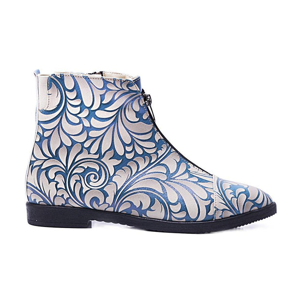 GOBY Flower Ankle Boots FER102 Women Ankle Boots Shoes - Goby Shoes UK