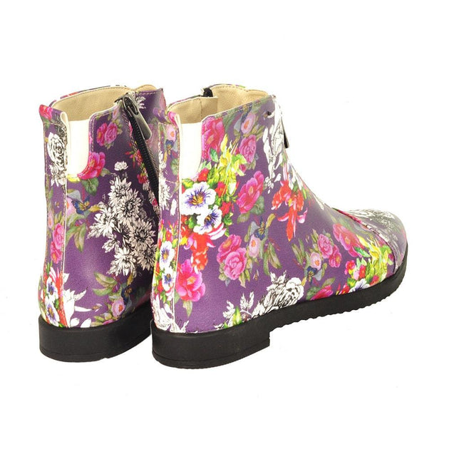 GOBY Flowers Ankle Boots FER104 Women Ankle Boots Shoes - Goby Shoes UK