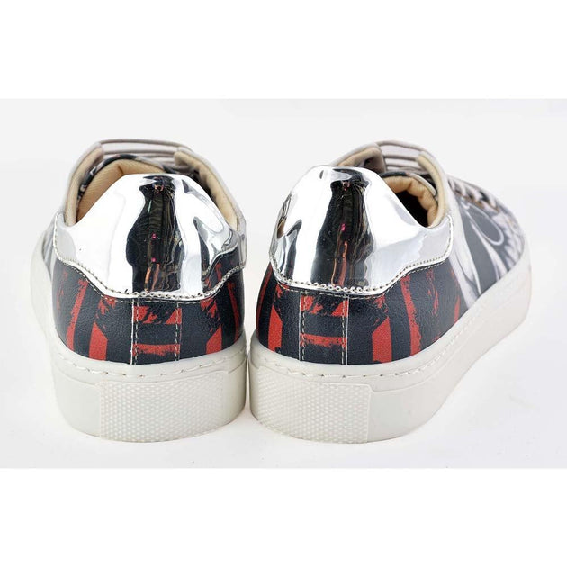 GOBY Bomb Skull Slip on Sneakers Shoes GOB203 Women Sneakers Shoes - Goby Shoes UK