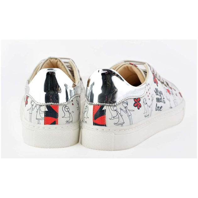 GOBY Bride Groom Slip on Sneakers Shoes GOB205 Women Sneakers Shoes - Goby Shoes UK