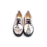 GOBY Eiffel Tower Oxford Shoes GOB301 Women Oxford Shoes - Goby Shoes UK