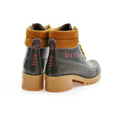 GOBY I Love You Short Boots KAT105 Women Short Boots Shoes - Goby Shoes UK