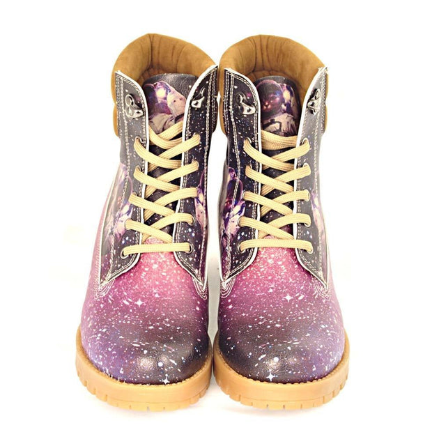 GOBY Astronaut Cat Short Boots KAT108 Women Short Boots Shoes - Goby Shoes UK