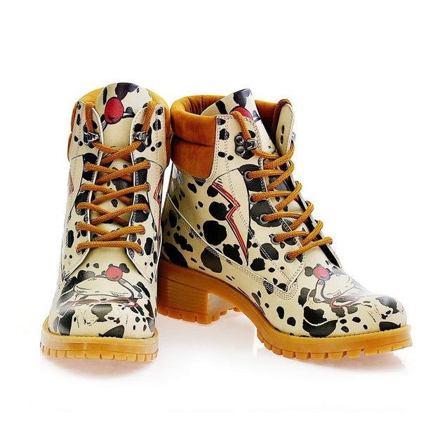 GOBY Dalmatian Short Boots KAT109 Women Short Boots Shoes - Goby Shoes UK