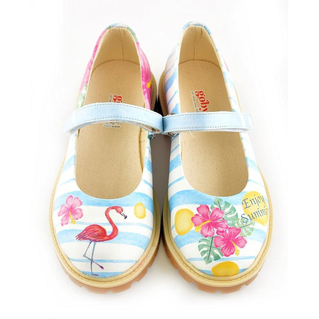 Flamingo and Flowers Ballerinas Shoes KTB105