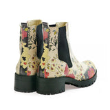 GOBY Flowers Short Boots LAS104 Women Short Boots Shoes - Goby Shoes UK