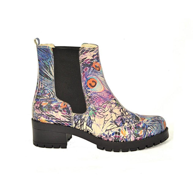 Paint Pattern Short Boots LAS105