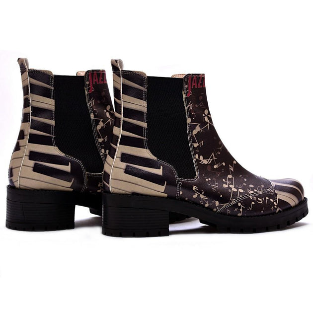 GOBY Jazz Short Boots LAS107 Women Short Boots Shoes - Goby Shoes UK