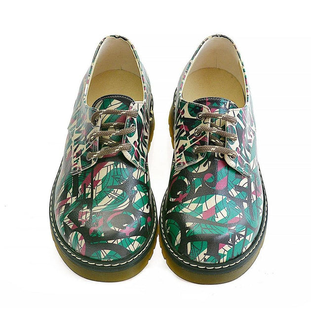 GOBY Colored Pattern Oxford Shoes MAX101 Women Oxford Shoes - Goby Shoes UK