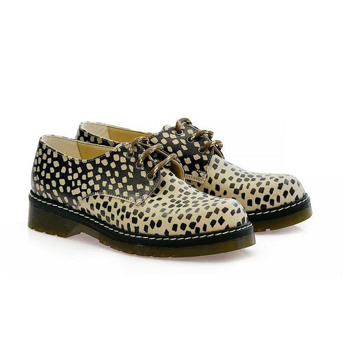 GOBY Leopard Oxford Shoes MAX102 Women Oxford Shoes - Goby Shoes UK