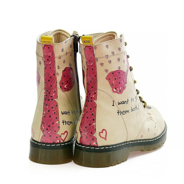 GOBY I Want to get Them Both Long Boots MRT101 Women Long Boots Shoes - Goby Shoes UK