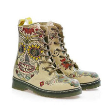 MRT111 Crazy Skull Long Boots